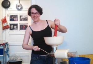 Me and my new best friend, the Food Strainer-Saucemaker.