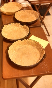 Four crusts waiting for glory.