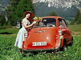 This is not The Fish. The Fish is not that cute. Of course, most cars look cuter with The Alps behind them.